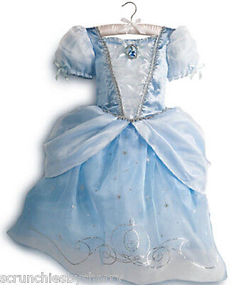 Disney Store Cinderella Dress Costume Princess Fancy Size 5/6 New