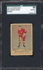 1951-52 Parkhurst #66 Gordie Howe Rookie Card -- SGC 88 Well centered!
