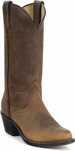 Durango-Women-039-s-Western-11-034-Leather-Boots-Tan-2-034-Heal-RD4112-Size-6-10