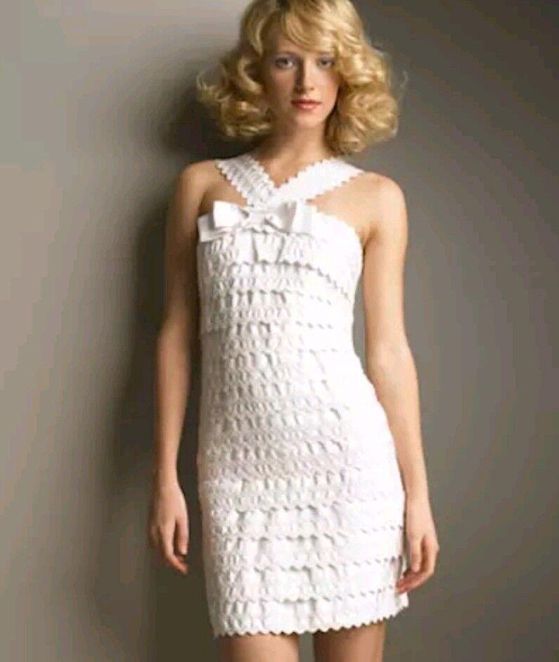 Edles Kleid Blogger Weiss 36 Damen sommerkleid Cocktailkleid  marc