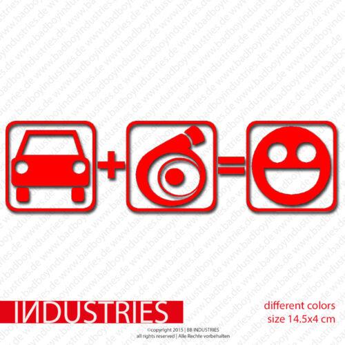 turbo Inside = smiley sticker 14,5x4autocollant stickerJDMauto car Atuo