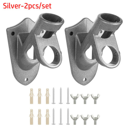 Rust Free Coated Aluminum Bracket Flag Pole Holder Wall Mounting Two-Position