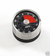 Gefu Wind Up Mechanical 1 Hour Small Magnetic Kitchen Timer 12310