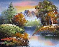 Ölgemälde Ölmalerei Gemälde Landschaft Berg Wald