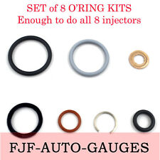 Set of 8 High Quality 03-10 6.0L & 4.5L Ford Power Stroke,G2.8 Injector Seal Kit