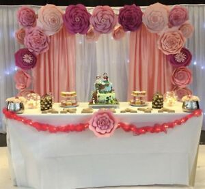 Image Is Loading 20 Large Paper Flowers Backdrop Birthday Wall Decor
