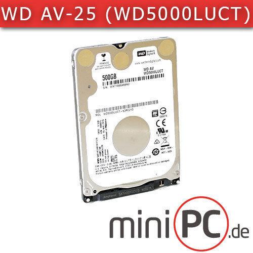 "1 von 1 - Western Digital WD AV-25 WD5000LUCT (2.5"" Festplatte/HDD SATA 500GB)"