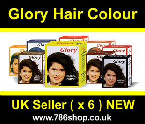 Glory Henna Hair Colour Dye Best Selling Brand New 6 X 10g