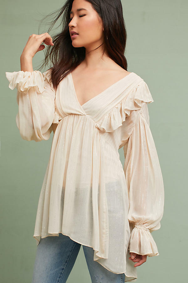 NWT Anthropologie Wynne Tunic Top Blouse 0