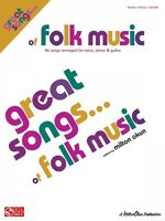 Great Songs Of Folk Music Sheet Music Piano Vocal Guitar Songbook Grea 002500997