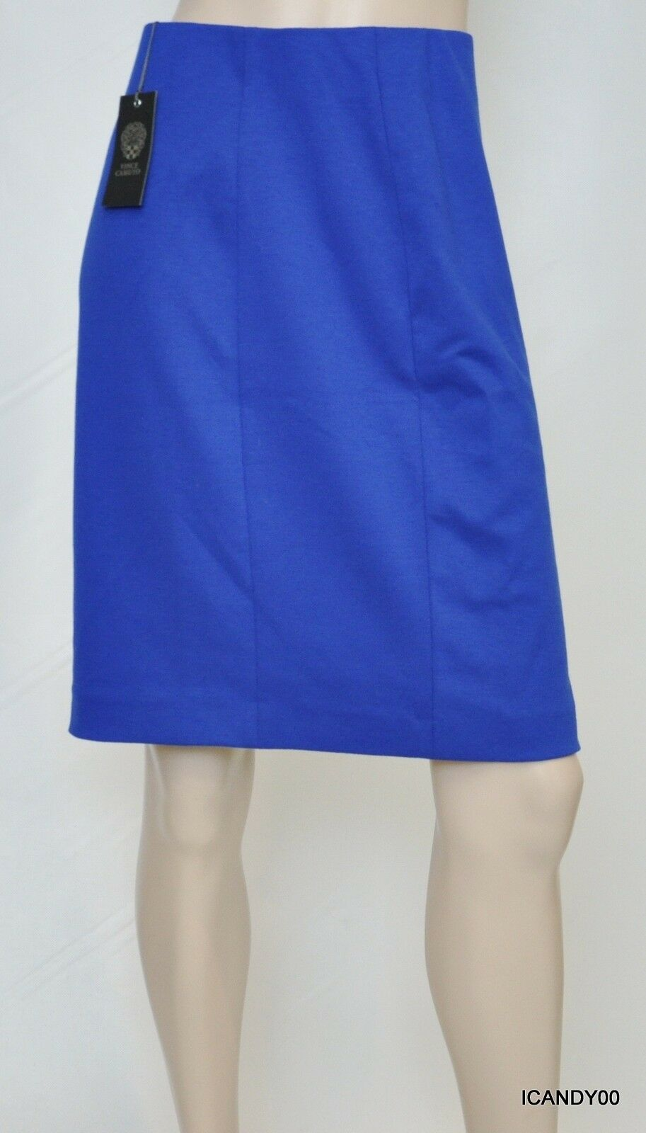 Nwt  Vince Camuto Stretch Jersey Solid Pencil Skirt Emperor bluee 8