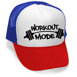 New Workout Mode Trucker Hat Cap Gym Fitness Running Beast ... e4d316b59fcb