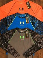 Under Armour Men's Printed Heatgear Vented Run Fitted Longsleeve Shirt 1266021