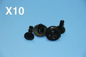 89 MM OPEL BLACK PLASTIC PUSHIN SIDSKIRT PANEL DOOR BUMP SUPPORT CLIPS - <span itemprop=availableAtOrFrom>Crawley, West Sussex, United Kingdom</span> - accept any reasonable returns - Crawley, West Sussex, United Kingdom