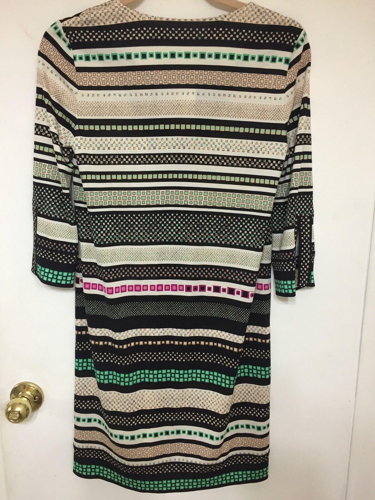 Diane von von von Furstenberg 'pink' Print Silk Shift Dress Size 2  398 926a7b