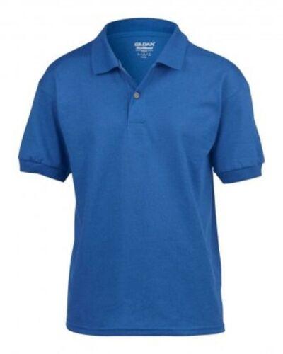 Pacote com 3 Crianças Gildan uniforme escolar Manga Curta Camisa Polo Meninos Childrens