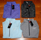 NWT Womens UNDER ARMOUR 1/2 Zip Twist Purple Blue Black Silver Medium Large XL