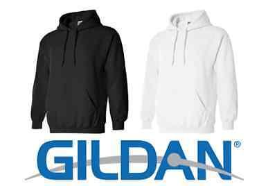 12 HOODED SWEATSHIRTS 6 BLACK 6 WHITE BULK LOT S XL Gildan Hoodie Wholesale G185   eBay