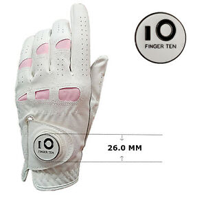 Golf-Gloves-Women-Left-Right-Hand-All-Weather-Cabretta-Leather-With-Ball-Marker