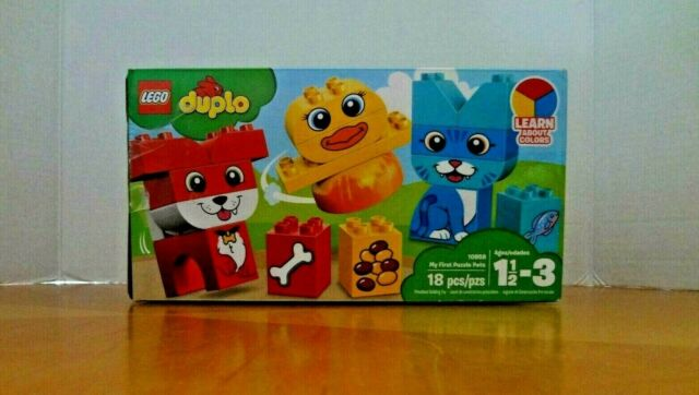LEGO Duplo My First Puzzle Pets 10858 Building Blocks NEW 18 Piece