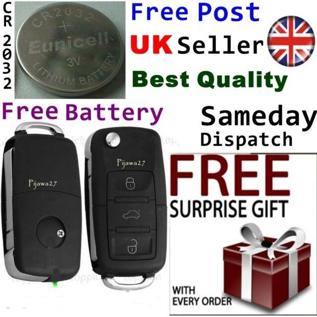 Key Remote Fob Case for VW Passat Golf Polo T4 T5 Bora Sharan Badge 3 Button R32