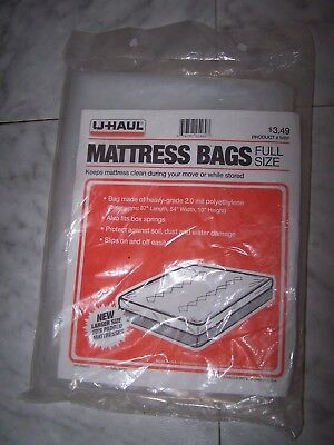 UHAUL Mattress Bag FULL SIZE Plastic Dust Bug Waterproof ...