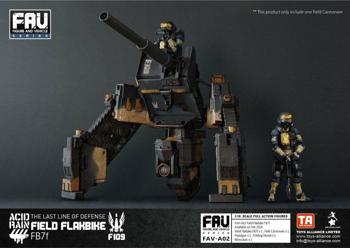 Lluvia ácida Juguetes-Alianza Mundial Campo FAV-A02 flakbike FB7f 1 18 completo figura