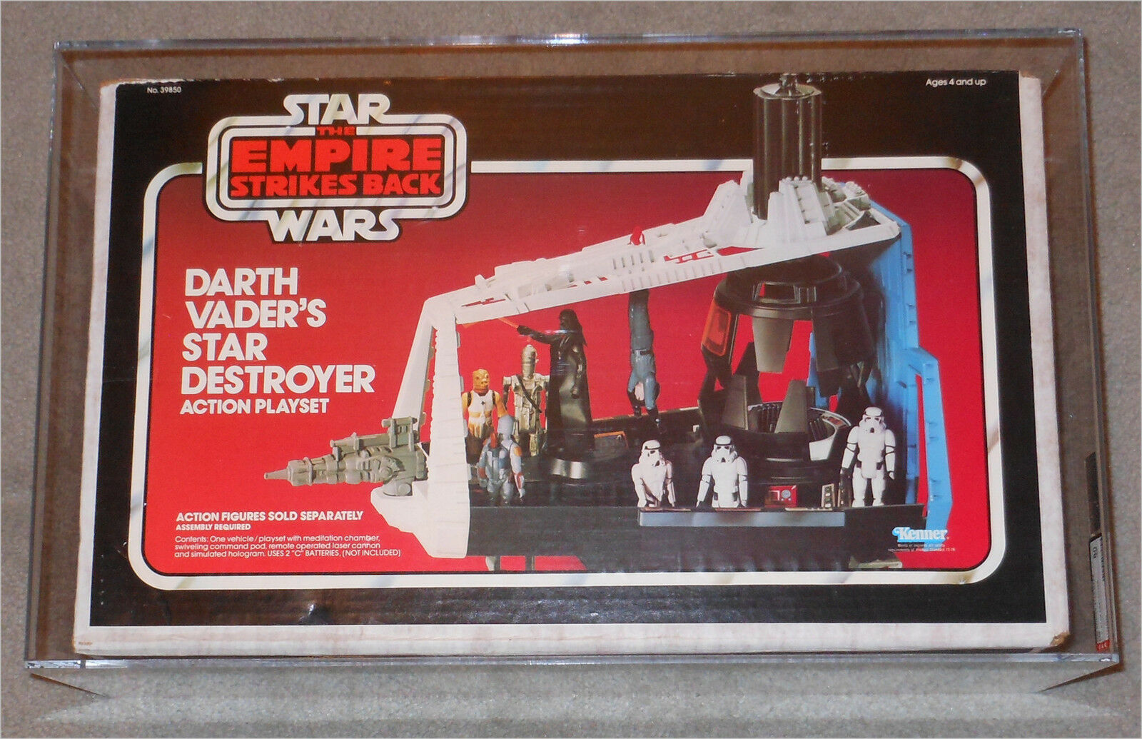 1980 Kenner Star Wars ESB Darth Vader Star Destroyer AFA 80 NM