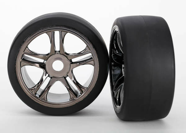 Traxxas Mounted Rear Wheels & Tires XO-1 Super Car 6477 TRA6477