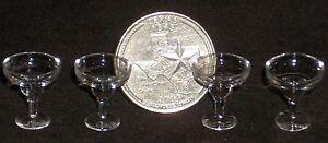 Beverage-Glasses-Glass-Margarita-Set-4-1-12-Dollhouse-Miniature-Alcohol-G7354
