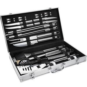 Set-kit-accessori-griglia-barbecue-BBQ-25-pezzi-attrezzi-utensili-con-valigetta