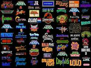 A4 Retro Gaming Poster Collection Of Nes Games Xbox 360 Ps3