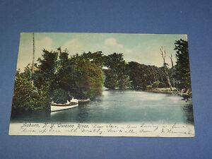 VINTAGE  1906 OWASCO RIVER AUBURN  NEW YORK   POSTCARD