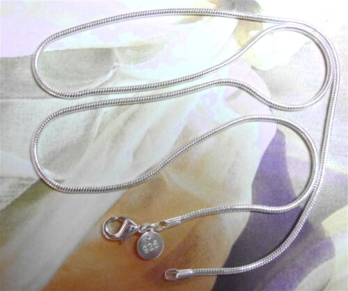 """925 Sterling Silver Filled 2mm Medium Snake Chain Necklace  16 to 30 /"""" inch"""