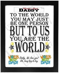 Image Is Loading Worlds Best Daddy Dad Pop FATHERS DAY Present