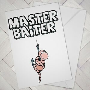 Image Is Loading Funny Fishing Birthday Card Bait Cheeky Naughty Fathers