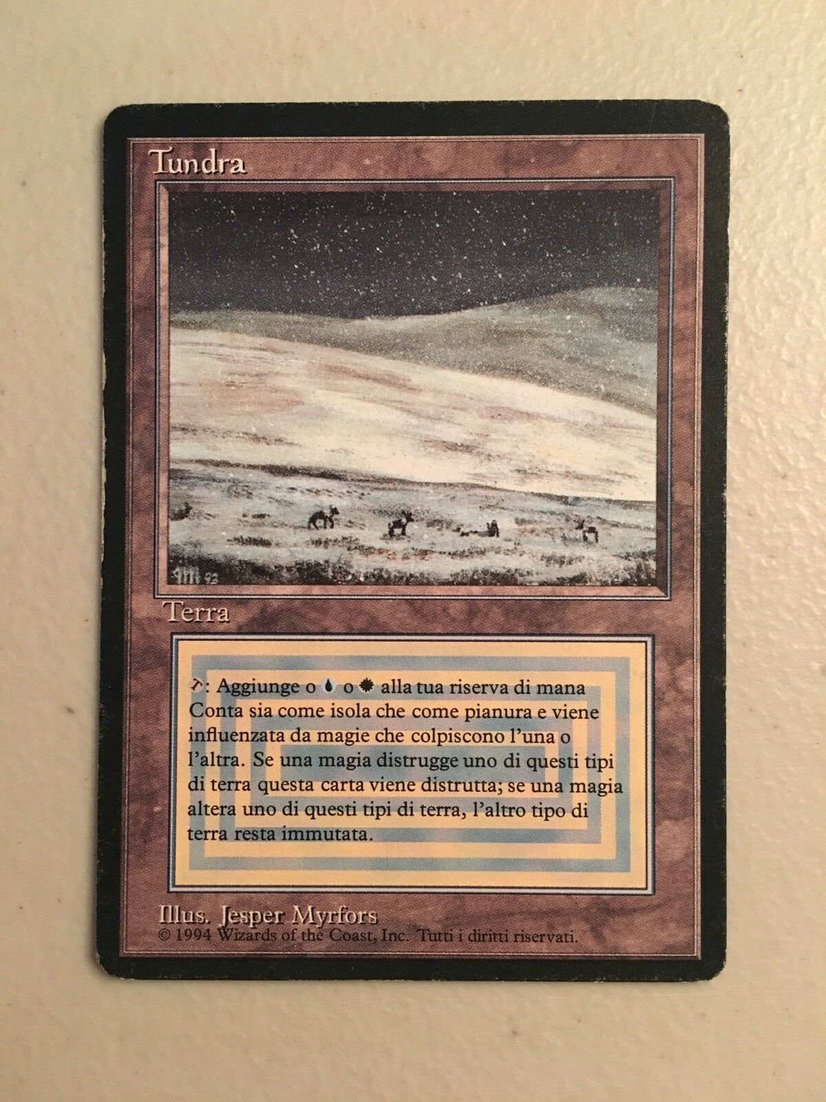 1x FBB Italian Tundra MTG Revised MP