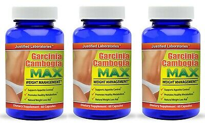 Pure Garcinia Cambogia 1300 Mg Extract 60 Hca Natural Diet Weight Loss 3 Pack Ebay