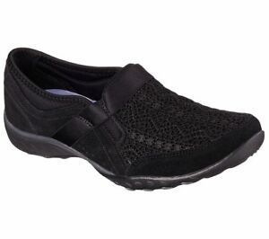 22517 Black Skechers shoe Memory Foam Women Slipon Casual Comfort Loafer Fashion