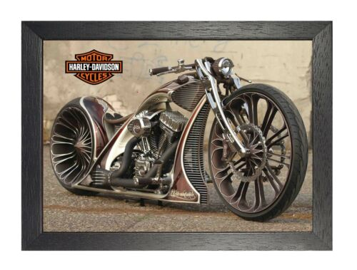 Harley Davidson 3 Photo Motorcycle Picture American HD Route 66 Bike Poster
