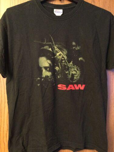 Saw - (Movie Poster Image).  Black Shirt.  Adult L