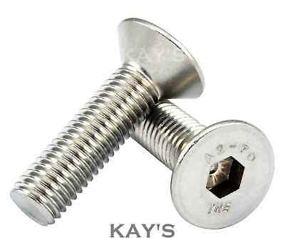 BOLT FREE UK P/&P SCREW 20 x M5 by 35mm COUNTERSUNK SLOT HEAD