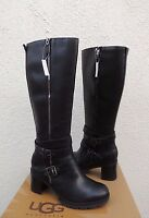 Ugg Lana Water-resistant Leather Sheepskin High Heel Boots, Us 7.5/ 38.5