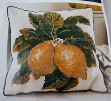 """EHRMAN 1989 Kaffe Fassett LEMONS CREAM Tapestry Needlepoint Kit 15"""" x 14.5"""" Rare"""
