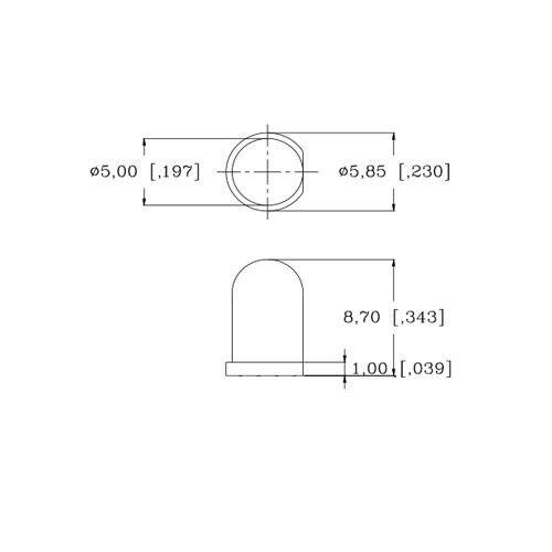 5 X Led Pre Con Cable 12v 5mm Azul intermitente parpadeo Strobe Led 12 Voltios Rc 6v 9v