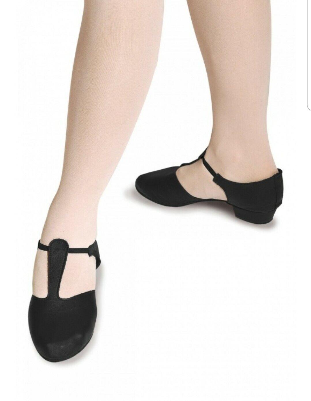 Roch Valley black leather Greek sandals size 2