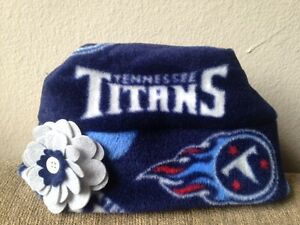 affed325c99c8 Image is loading Tennessee-Titans-Fleece-Flower-HAT-Newborn-Baby-Girls-