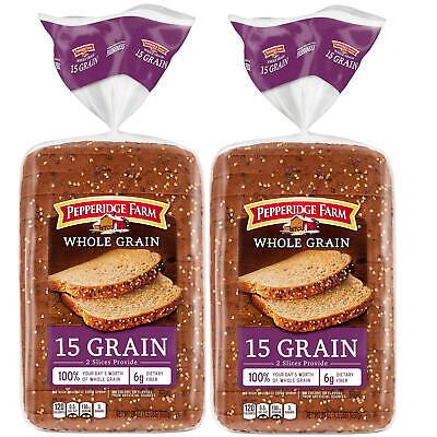 Pepperidge Farm Whole Grain 15 Grain Bread 24oz 2pk Ebay