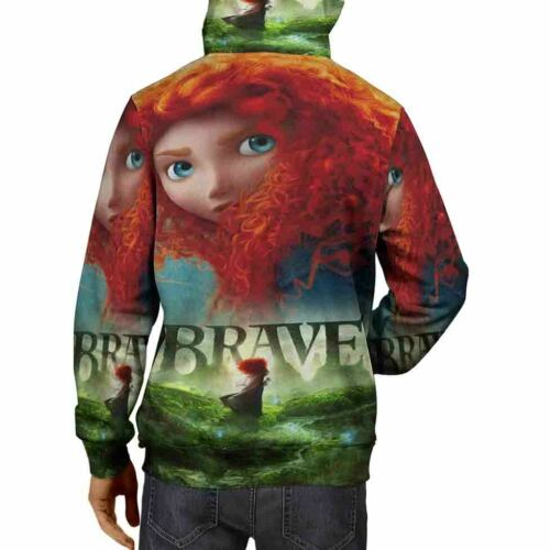 Brave Disney Hoodie Fullprint New Men/'s Hoodie Zipper