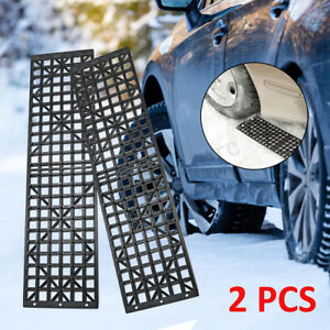 2 Pcs Car Recovery Traction Tracks Sand Snow Mud Tire Tyre Ladder 4WD Off   t
